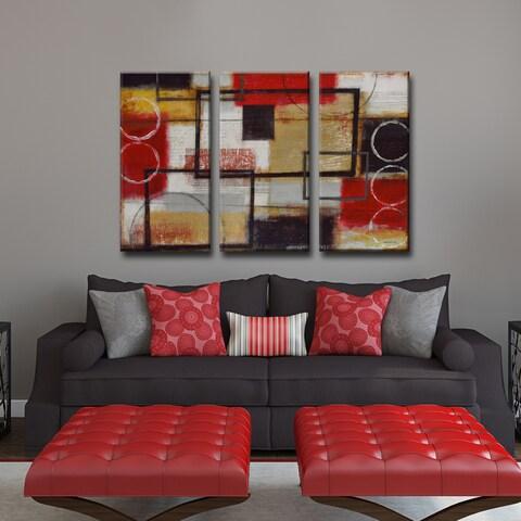 Ready2HangArt Norman Wyatt Jr. 'Energized' 3-piece Wrapped Canvas Art Set