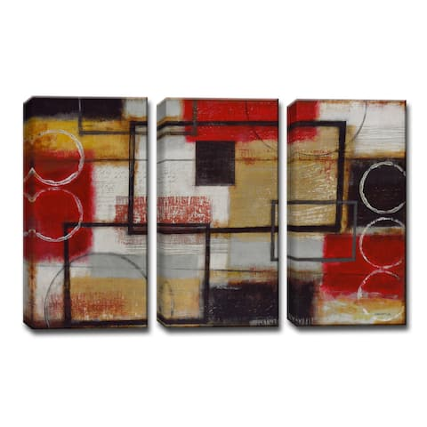 Energized' by Norman Wyatt, Jr. 3-Piece Wrapped Canvas Wall Art Set