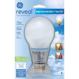 GE Lighting 63509 20 Watt Reveal A21 CFL Bulb
