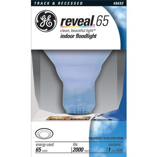 GE Lighting 48692 65 Watt Reveal Indoor Recessed & Track Flood Light Bulb