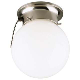 Westinghouse Brushed Nickel Ceiling Fixture 7-1/4 in. H x 6 in. W