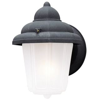 Westinghouse 6688100 Black One-Light Exterior Wall Lantern With Frosted Glass