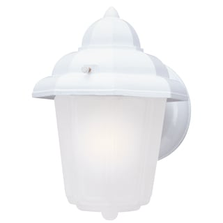 Westinghouse 6687900 White One-Light Exterior Wall Lantern With Frosted Glass