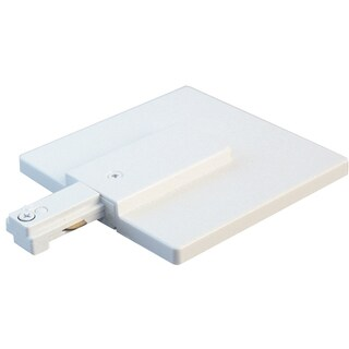 Lazer Lighting LZR000200P White Live End Feed Track Lighting Connector