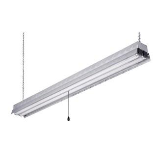 """Canarm EFS848232AL 48"""" Aluminum Diamond Plate Fluorescent Shop Light"""