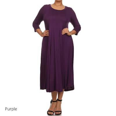 Buy Purple Women\'s Plus-Size Dresses Online at Overstock ...