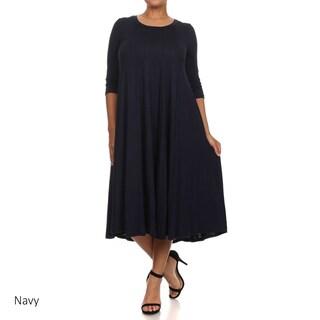 Women's Plus Size A-Line Dress (More options available)