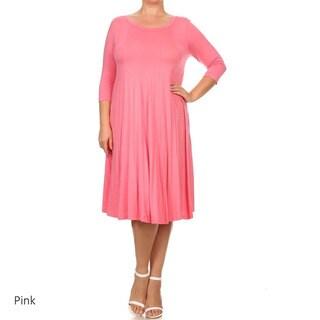 MOA Collection Women's Plus Size A-Line Dress
