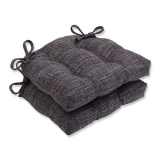 Pillow Perfect Tweak Gravel Reversible Chair Pad (Set of 2)