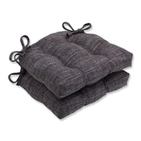 Pillow Perfect Tweak Gravel Reversible Chair Pad (Set of 2)