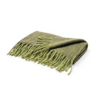 Green Mohair Throw