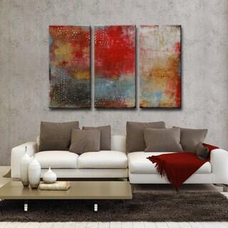 Impromtu' by Norman Wyatt Jr. 3-Piece Wrapped Canvas Wall Art Set