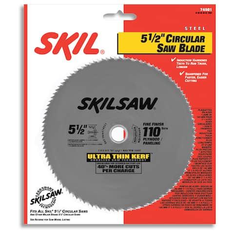 "Skil 74501 5-1/2"" 110T Ultra Thin Kerf Circular Saw Blade"