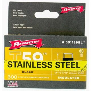 "Arrow Fastener 591189BLSS 5/16"" Black T59 Insulated Staples"