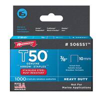 "Arrow Fastener 506SS1 3/8"" T50 Stainless Steel Staples"
