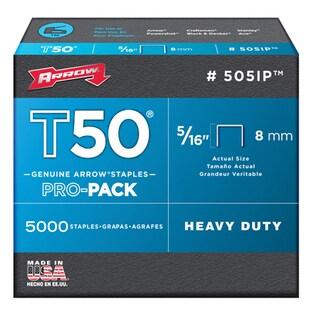 "Arrow Fastener 505IP 5000-count 5/16"" T50 Staples"