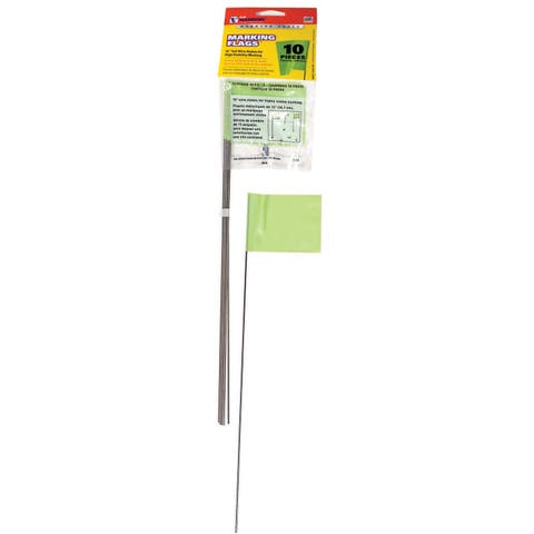 CH Hanson 15067 10 Pack Lime Marking Flags