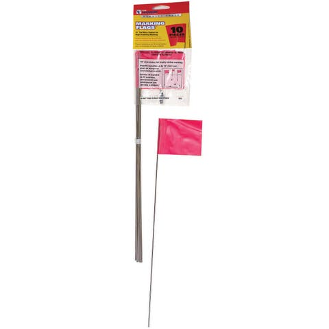 CH Hanson 15065 10 Pack Red Marking Flags