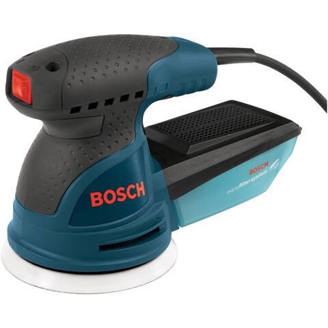"""Bosch ROS20VSK 5"""" Variable Speed Palm-Grip Random Orbit Sander Kit"""