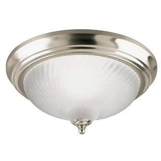 Westinghouse 6430400 1 Light Brushed Nickel Flush Mount Ceiling Fixture