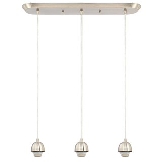 Westinghouse Brished Nickel Flush Mount Ceiling Fixture 4-1/2 in. D x 55 in. H x 23-1/2 in. W