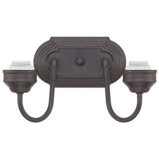 Westinghouse 6300300 Two-Light Oil Rubbed Bronze Interior Wall Fixture