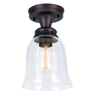 Bel Air Lighting CB-60029 1 Light Semi-Flushmount with Clear Bell Shaped Glass