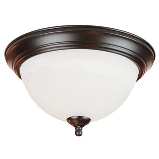Bel Air Lighting CB-60022 2 Light Flushmount Light With White Alabaster Style Glass
