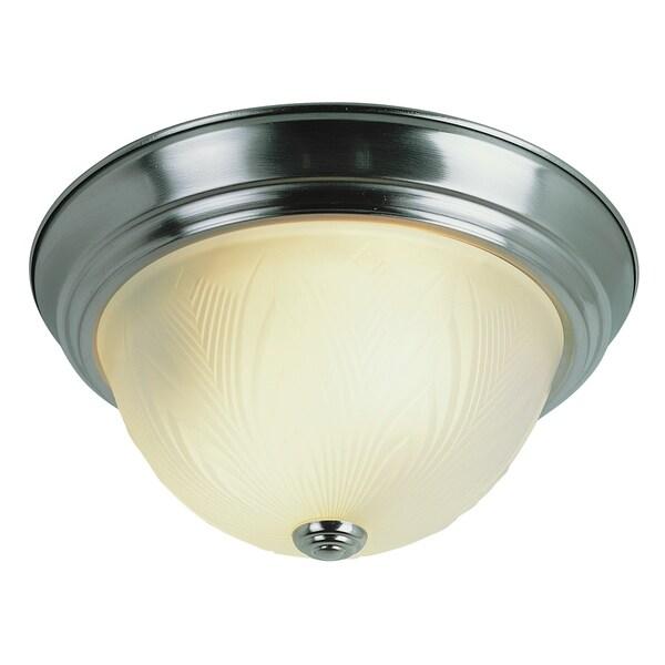 "Bel Air Lighting CB-58800-BN 11"" Brushed Nickel Flush Mount Fixture"