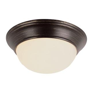 "Bel Air Lighting CB-57700-ROB 12"" Rubbed Oil Bronze Marbleized Flush Mount Fixture"