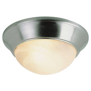 "Bel Air Lighting CB-57700-BN 12"" Brushed Nickel Marbleized Flush Mount"