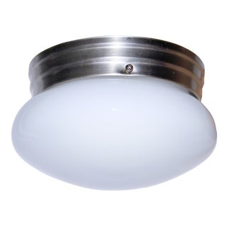 "Bel Air Lighting CB-3618-BN 8"" Brushed Nickel Mushroom Ceiling Light Fixture"
