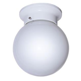 "Bel Air Lighting CB-3606-WH 6"" Globe Flushmount Light Fixture"