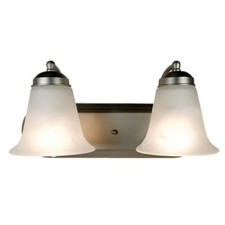 Bel Air Lighting CB-3502-BN 2 Light Brushed Nickel Bathroom Light Bar