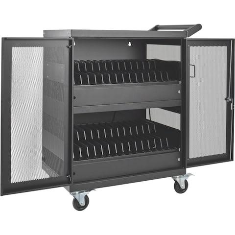 Tripp Lite 32-Port AC Charging Cart Storage Station Chromebook Laptop Tablet