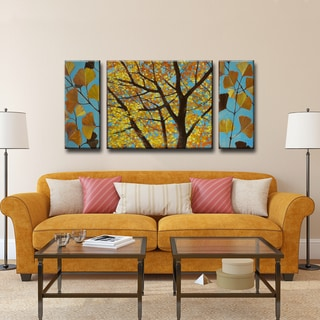 Ready2HangArt Norman Wyatt Jr. 'Brilliant Ginkgo' 3-piece Wrapped Canvas Art Set