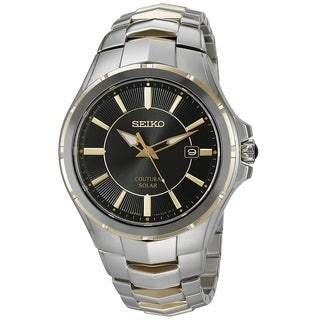 Seiko Men's SNE412 Stainless Steel Two Tone Coutura Solar Watch with a Sapphire Crystal and 10 Month Power Reserve