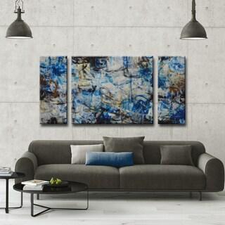 Norman Wyatt Jr. Ready2HangArt 'White Water' 3-piece Wrapped Canvas Art Set