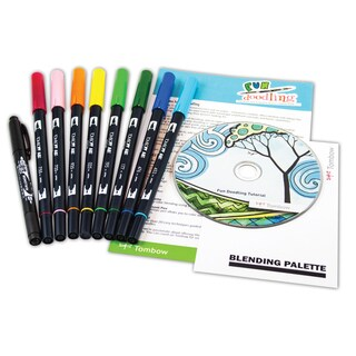 Tombow Dual Brush Pen Art Markers Doodling Kit Assorted Pack
