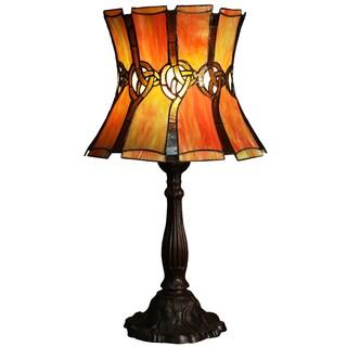 Elantra 1-light Dark Orange 25-inch Tiffany-style Table Lamp