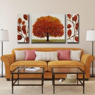 Norman Wyatt Jr. Ready2HangArt 'November Splendor' 3-piece Wrapped Canvas Art Set