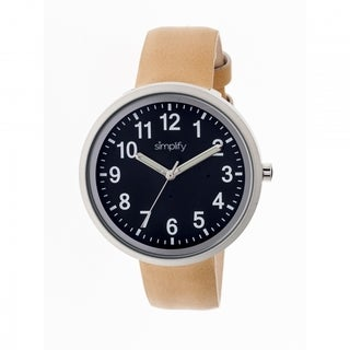 Simplify Men's SIM2607 The 2600 Black Watch