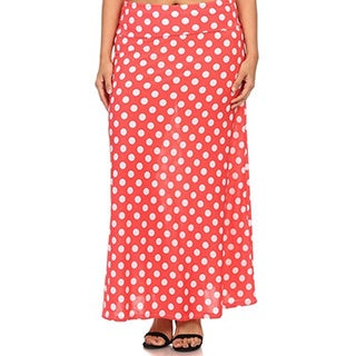 MOA Collection Plus Polka Dot Maxi Skirt