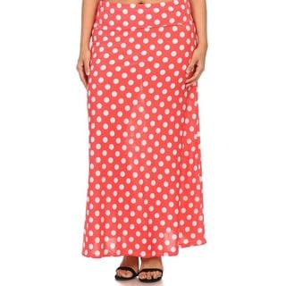 MOA Collection Plus Polka Dot Maxi Skirt
