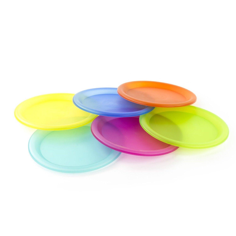 Reusable Plastic Picnic Plates Set