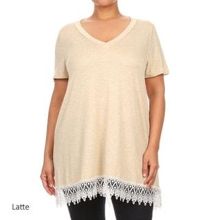 MOA Collection Plus Women's Crochet Lace Top