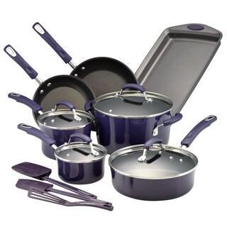 Rachael Ray 14-Piece Hard Porcelain Enamel Nonstick Cookware Set (Option: Purple)