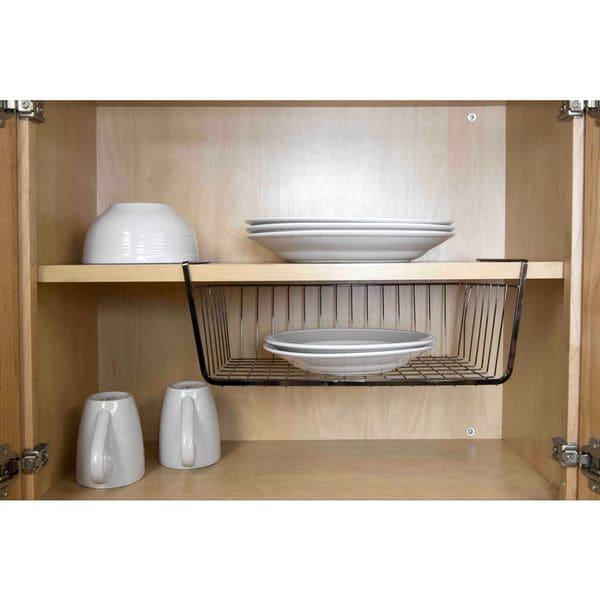 Home Basics Black Onyx Large Undershelf Basket