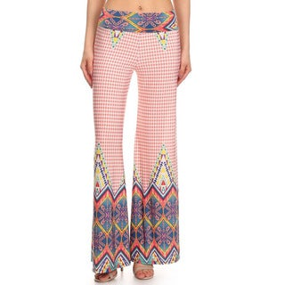 MOA Collection Women's Multi-Color Palazzo Pants