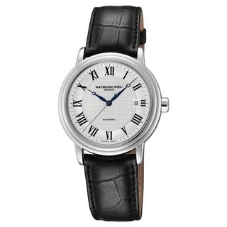 Raymond Weil Men's 2837-STC-00659 'Maestro' Automatic Black Leather Watch